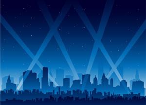 City skylights illustration