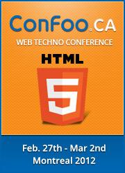 ConFoo Web Techno Conference. 29 février au 2 mars 2012. Montréal